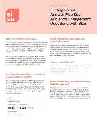 5 Ways to Diagnose Entertainment KPIs with Sisu