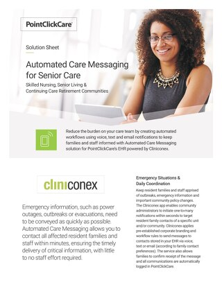 Cliniconex Solution Sheet