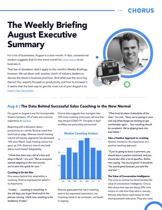 August Executive Summary - The Weekly Briefing
