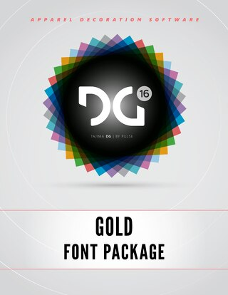 Pulse - DG16 Gold Fonts