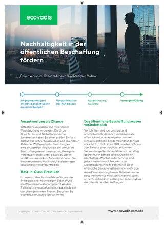 Broschüre Nachhaltigkeit in der öffentlichen Beschaffung