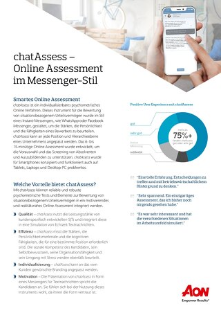 chatAssess Flyer