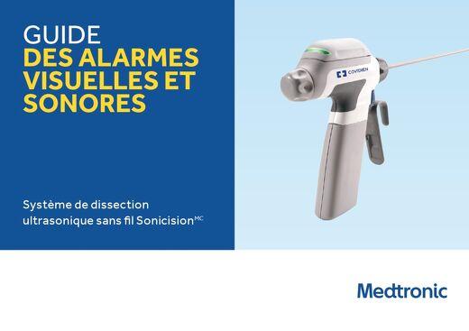 Guide des alarmes visuelles et sonores du système de dissection ultrasonique sans fil Sonicision