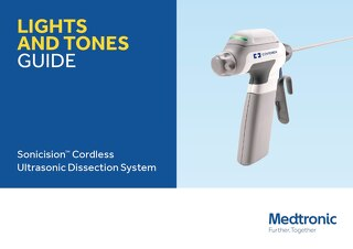 Sonicision Cordless Ultrasonic Dissection System Lights Tones Guide