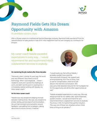 Intoo Candidate Success Story - Raymond Fields