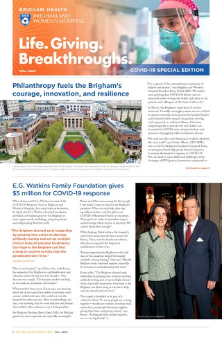 COVID Donor Newsletter Fall 2020