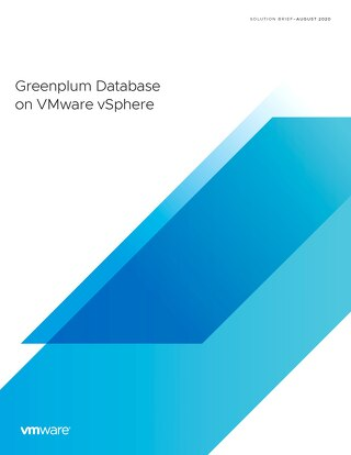 Greenplum Database on vSphere