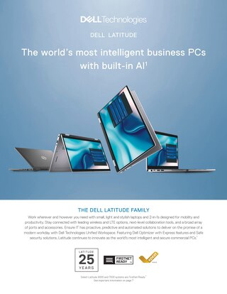 Dell Latitude - The world's most intelligent business PCs with built-in AI
