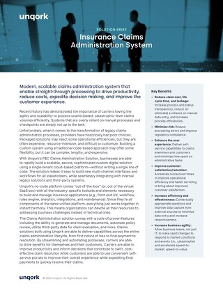Solution Brief: Insurance Claims Administration System