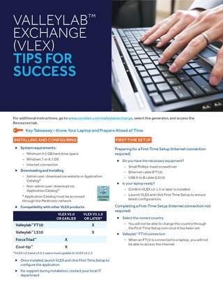 Tips for Success: VALLEYLAB™ EXCHANGE (VLEX)
