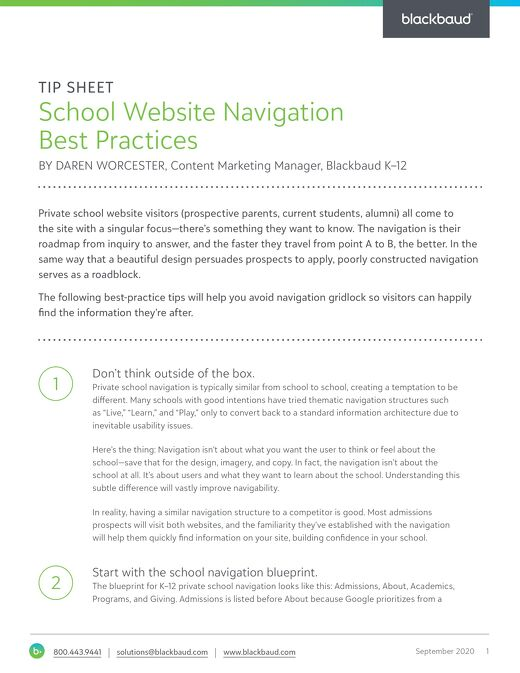 School Website Navigation Best Practices