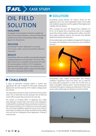 AccessWrap™ Oil Field Solution Case Study