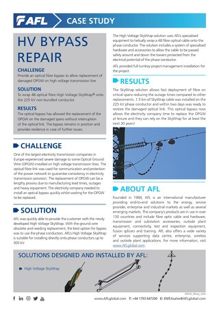 SkyWrap® HV Bypass Repair Case Study
