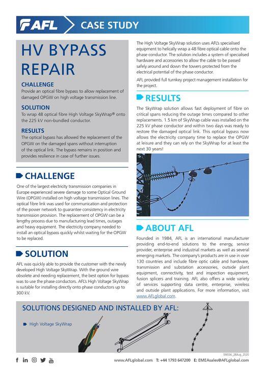 SkyWrap® HV Bypass Repair Case Study