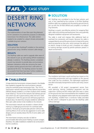 SkyWrap® Desert Ring Network Case Study