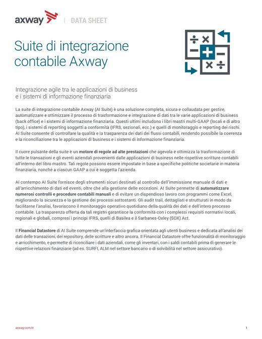 Suite di integrazione contabile Axway