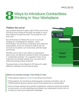 PaperCut 8 Better Ways To Print