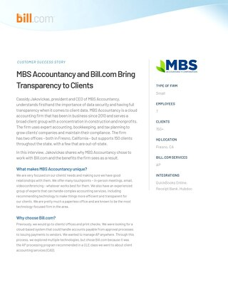 Why Bill.com is a requirement for AP clients for MBS Accountancy
