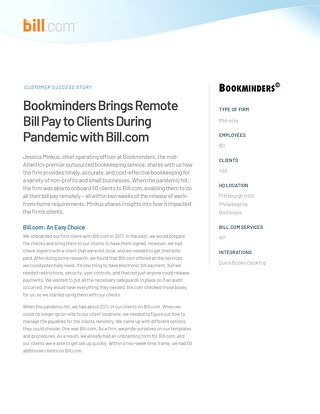 Case Study - Bookminders