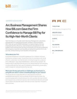 Case Study: Arc Business Management