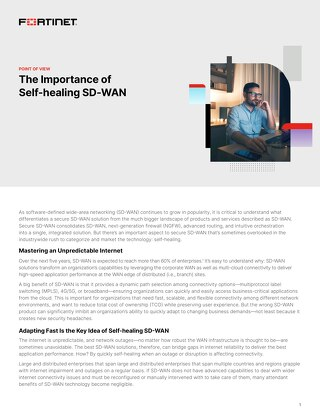 The Importance of Self-Healing SD-WAN