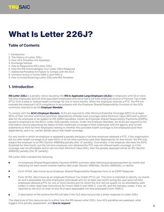 What Is Letter 226J?