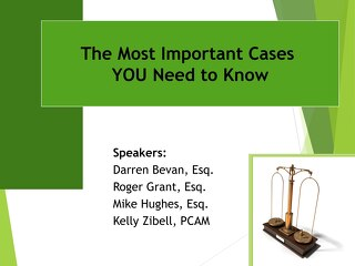 The Most Important Cases You Need to Know