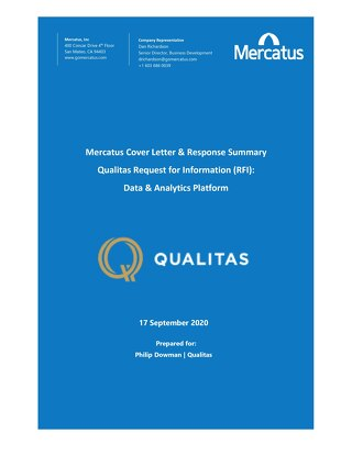 Mercatus Cover Letter to Qualitas RFI