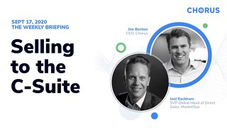 The Weekly Briefing Powered by Chorus - September 17, 2020
