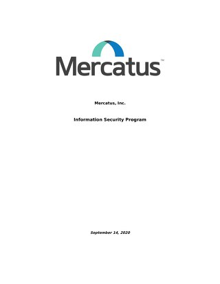 Mercatus Information Security Program - Sept 2020