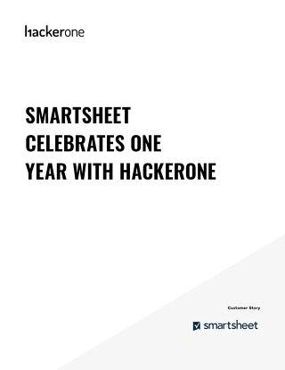 Smartsheet Celebrates One Year With Hackerone