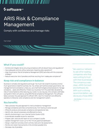 Fact Sheet: ARIS Risk & Compliance Management