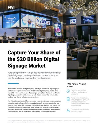 Partner With the Leading Enterprise Digital Signage Platform
