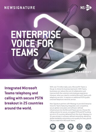 NS:GO Enterprise Voice For Teams 2020 Flyer