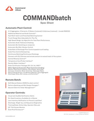 COMMANDbatch Specs