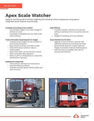 Apex Scalewatcher Spec