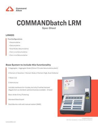 COMMANDbatch LRM Specs