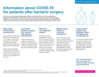 Post-Op Patient Guide - COVID 19 and Bariatric Surgery