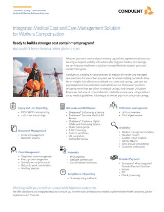 Integrated Medical Cost and Care Management Services