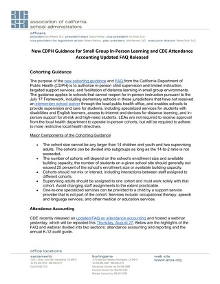 CDPH Guidance for Small Groups