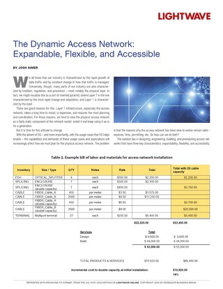 The Dynamic Access Network: Expandable, Flexible, and Accessible