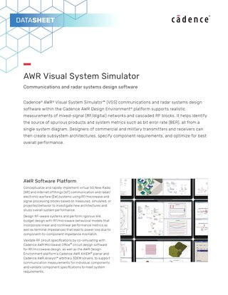 AWR Visual System Simulator