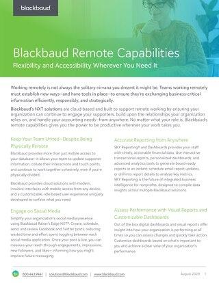 Remote Capabilities Datasheet