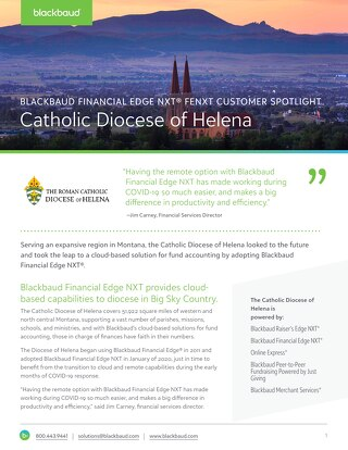 Diocese of Helena FENXT Customer Spotlight