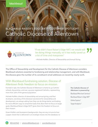 Diocese of Allentown RENXT Customer Spotlight