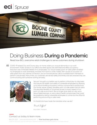 Boone Country Lumber - Spruce Customer Success Story COVID
