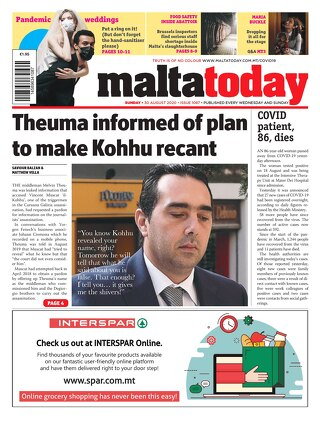 MALTATODAY 30 August 2020