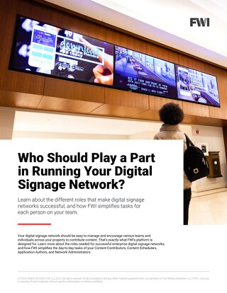 Learn About the Roles That Make Hotel Digital Signage Networks Successful