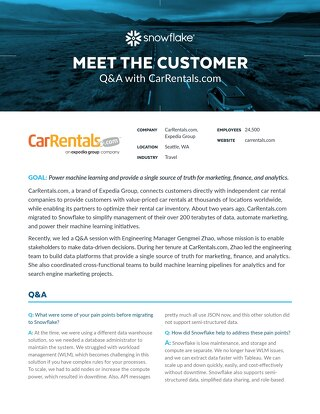 Meet the Customer Q&A: CarRentals.com