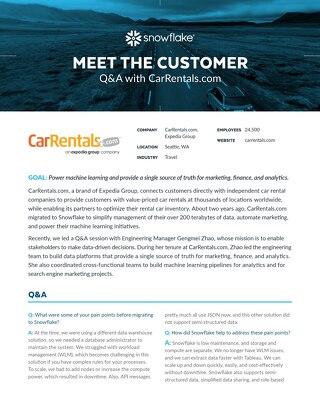 Meet the Customer Q&A: CarRentals.com